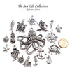 Fish Charms, Nautical Silver Pewter Pendants, Nickel Free, Lead Free, 3 Dimensional, 24x10mm, Lot Size 20, #1500 CBK