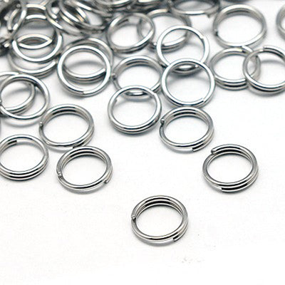 Stainless Steel Split Rings, 1000 Pieces