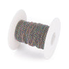Twist Chain, Stainless Steel Titanium Plated Soldered Links,4.5x3x0.5mm, 30 Feet Spooled, #1925 MC