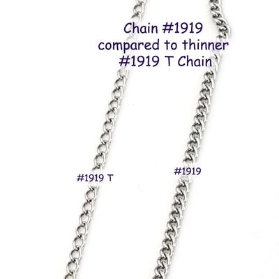 Fine Twist Chain, Stainless Steel, 3x2x0.6mm, 50 Meters Spooled, #1919 T