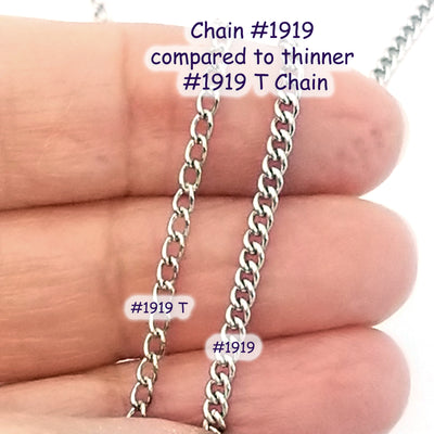Fine Twist Chain, Stainless Steel, Decorative Rolo Chain, 3x2x0.6mm, Lot Size 50 Meters Spooled, #1919