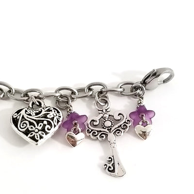 How To Make the Key to my Heart Charm Bracelet, the tutorial