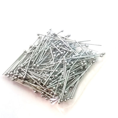 "Short Stainless Steel Ballpins, 20mm (3/4"" inch), 0.6mm thick, 23 gauge, Lot Size 200 (Approximately), #1300"
