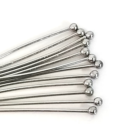"Stainless Steel Ballpins, 30mm (1 3/16"" inches), 0.6mm thick, 23 gauge, Lot Size 200 (Approximately), #1301"