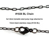 Black Cross Chain, Stainless Steel, 4.5x2.5mm, Soldered Closed Links, Lot Size 25 Meters (approx 75 feet) Spooled, #1926 BL