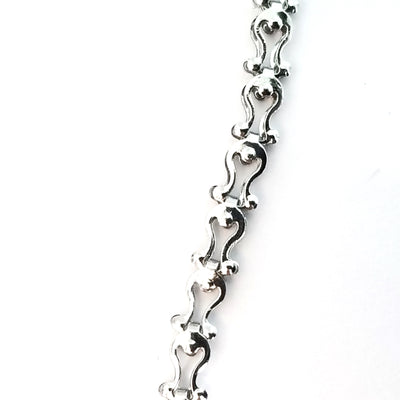Decorative Stainless Steel Chain, Harp Design, Soldered Links, 5x3x1.5mm, Lot Size 30 feet, #1955