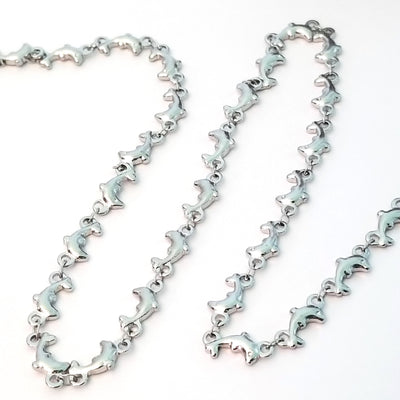 Dolphin Chain, Stainless Steel, Soldered Links, 6x12x2mm, Lot Size 30 feet, #1958