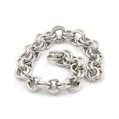 Double Link Stainless Steel Chain, 4mm Round Open Links, 0.7mm thick, Lot Size 25 Meters, #1911