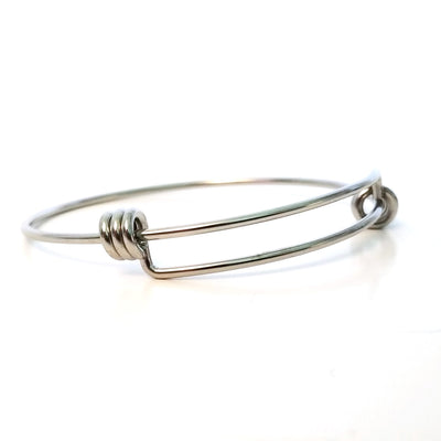 Adjustable Bangle, 1.7mm thick Stainless Steel Expandable Bracelets, Bulk, 60mm wide, Lot Size 50, #1806