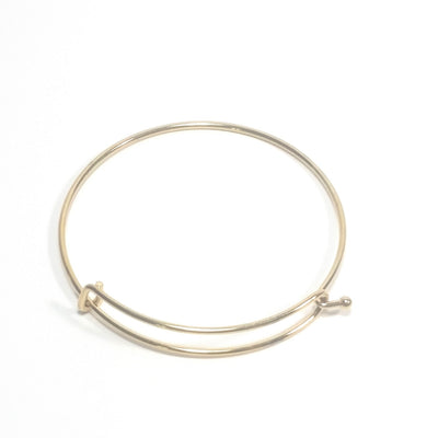 Gold Charm Bangle Bracelet Finding for Charms, 60mm diameter (less than about 7-1/2 inches), Lot Size 10 Pieces, #1803 G