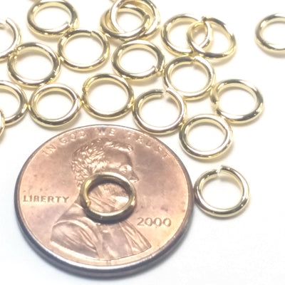 Gold Stainless Jump Rings, 6x1.0mm, 4mm Inside Diameter, 18 gauge, Closed Unsoldered, Lot Size 100
