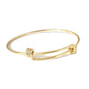 Gold Stainless Adjustable Bangle, 2mm thick Expandable Bracelets, Bulk, 60mm wide, Lot Size 25, #1800