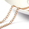 Twist Chain, Gold Stainless Steel Soldered Links, 3x4x0.5mm, 25 Meters Spooled, #1925 G