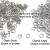 Medium Thickness Stainless Steel Jump Rings, 1mm thick