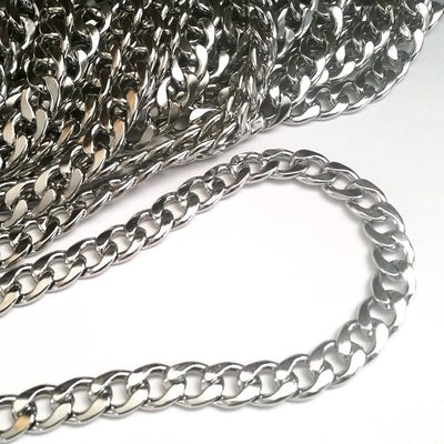 Mens Jewelry Chain, Stainless Steel Jewelry Chain for Men, Heavy Jewelry Chain, Bulk Chain, Non Tarnish, 15x12x3mm, 6 to 36 inches, #1931