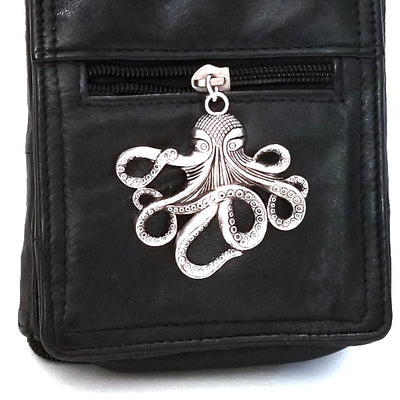 Octopus Pendant, Extra Large, Antique Silver, Lead Free, Nickel Free, 55x58mm, Lot Size 5 Pendants, #2028 AS