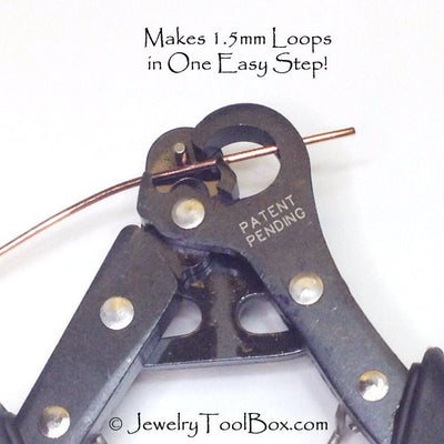 1 Step Looper, Loop Making Pliers, Make Your Own Eye Pins, 1.5mm Loops, Jewelry Making Pliers, Create and Trim Loops in One Easy Step, #1152
