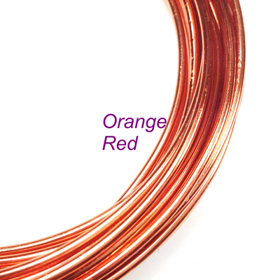 Orange Red Aluminum Wire