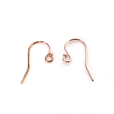 Rose Gold Filled Ear Wires,  Earrings Hooks, Easy Attach, Easy Change Style, 12 Pieces, #1348 RGF