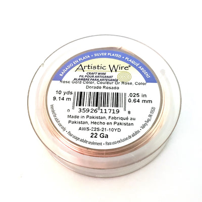 Rose Gold Colored Copper Wire, Anti-Tarnish, 22 Gauge, 10 Yards (30 Feet), Artistic Wire