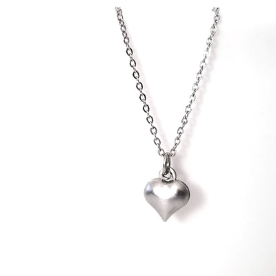 Stainless Heart Charm, Tiny Puffy Hearts, Valentine Charm, 10x8x3mm, Lot Size 200, #1611