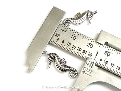 Seahorse Charms, Antique Silver, 3 Dimensional, Lead Free, Cadmium Free, 22x9mm, Lot Size 20, #2154