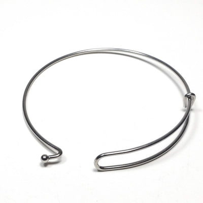 Charm Bangle Bracelet Finding for Charms, 60mm diameter (less than about 7-1/2 inches), Lot Size 50 Pieces, #1803
