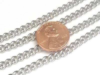 Thick Twist Chain, 6x4.5x1.2mm Lot Size 25 Meters, #1930