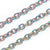 Textured Rainbow Stainless Steel Bulk Jewelry Making Chain 2.5x3mm Oval Links Chain, 30 Feet, #1031 MC