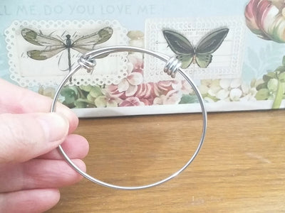 Adjustable Bangle, 2mm thick Stainless Steel Expandable Bracelets, Bulk, 60mm wide, Lot Size 50, #1800