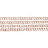 Twist Chain, Rose Gold Stainless Steel Soldered Links, 3x4x0.5mm, 25 Meters Spooled, #1925 RG