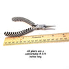 Bent Nose Pliers, Zebra Tools, Black and White, PLZ8 13