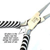 Chain Nose Pliers, Zebra Tools, Black and White, PLZ1 13