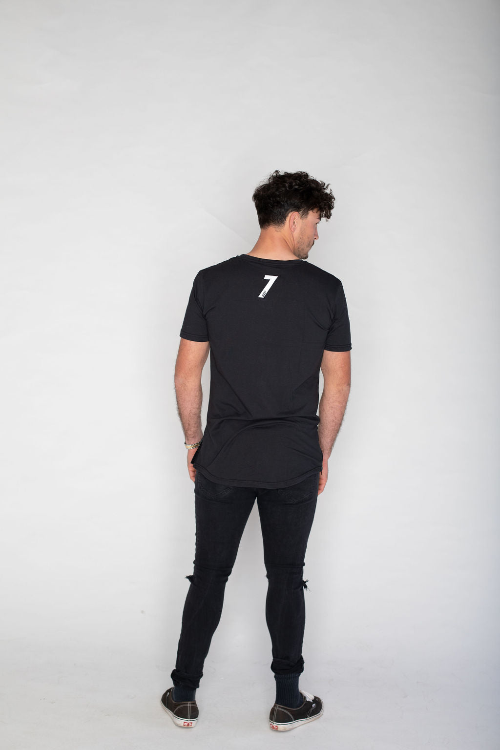 Side Zip T-shirt-Black