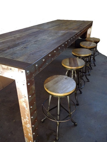Industrial style furniture.