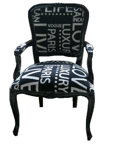 Jetsetter French style accent chair