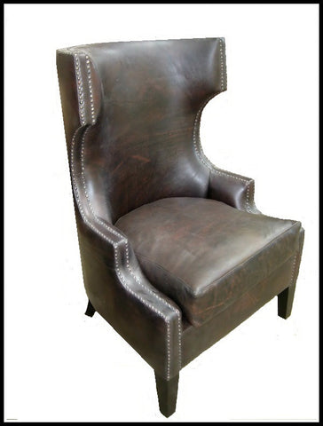 Ramon accent chair in leather