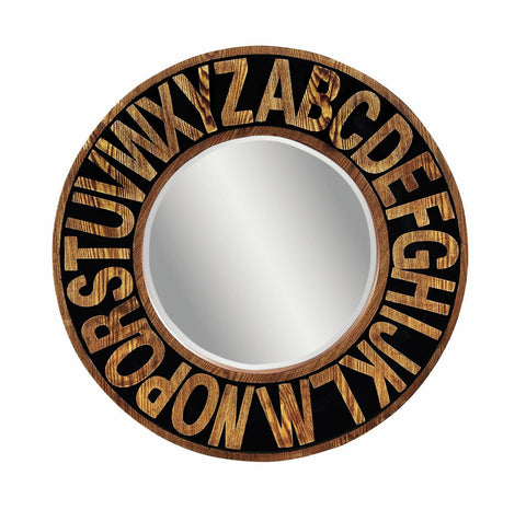 Alphabet Industrial Mirror