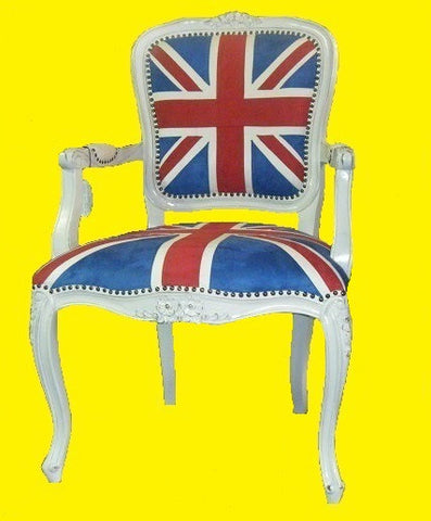 French style union jack accent chair