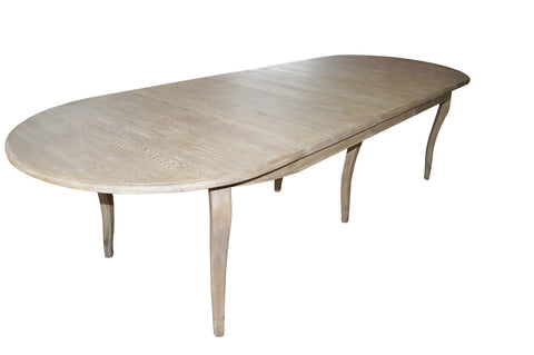French style oval extension table