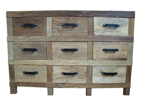 Industrial 9 drawer unit.