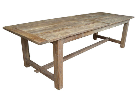 Stretcher base dining table