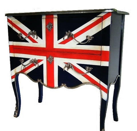 French style Union jack chest of drawers