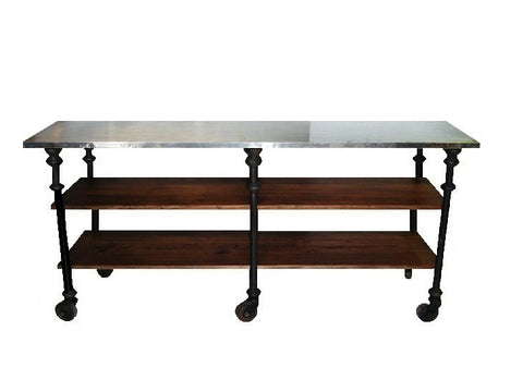 Industrial style preparation bench