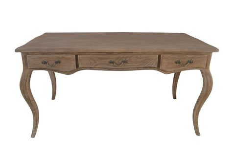 French style oak desk with drawers.