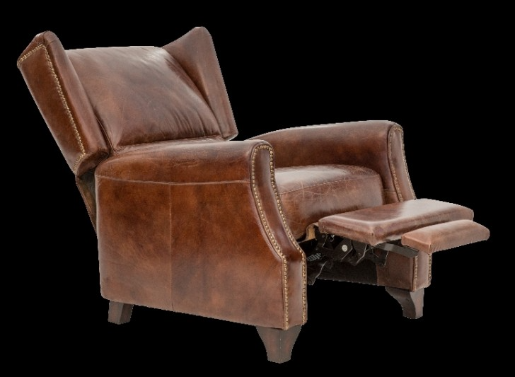 Vintage Style Leather Recliner Accent Chair Jack Horner