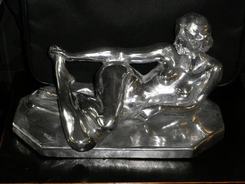 Decorative statue of reclining lady