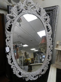 French style timber mirror