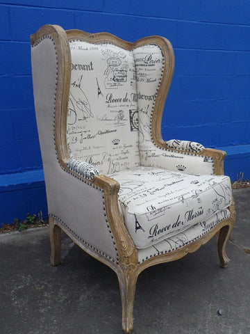 Versailles French style accent chair.