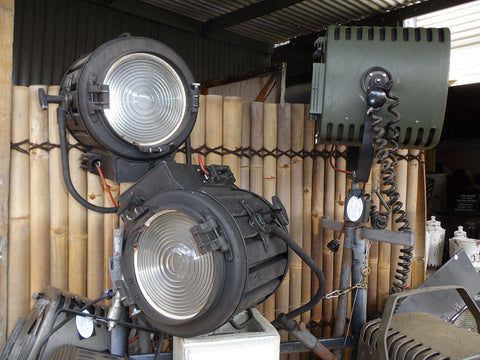 Vintage industrial tv studio lights